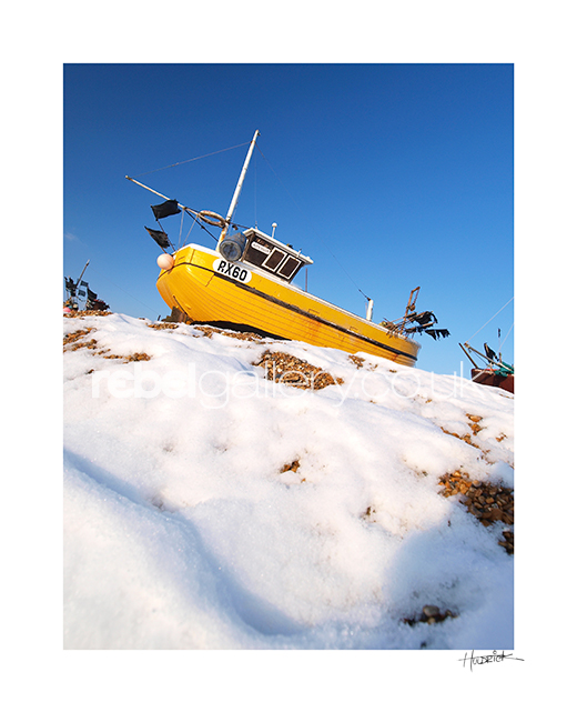 Photograph of Hastings trawler RX60 by Hastings Photographer Jon Huldrick Wilhelm.