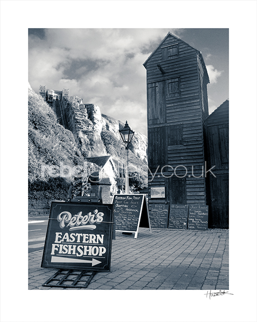 Photograph of Peter's Eastern Fish Shop Hastings by Hastings photographer Jon Wilhelm.