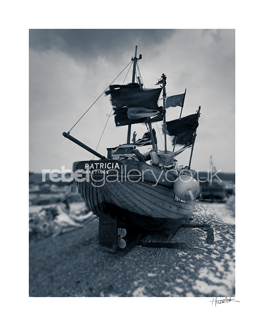 Photograph of Hastings trawler Patricia by Hastings Photographer Jon Huldrick Wilhelm.