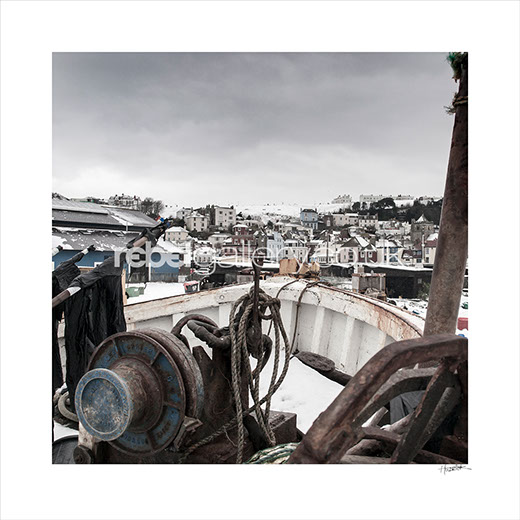 """Shot Across The Bows"". Photograph of Hastings Old Town from the Stade by Hastings Photographer Jon ""Huldrick' Wilhelm."