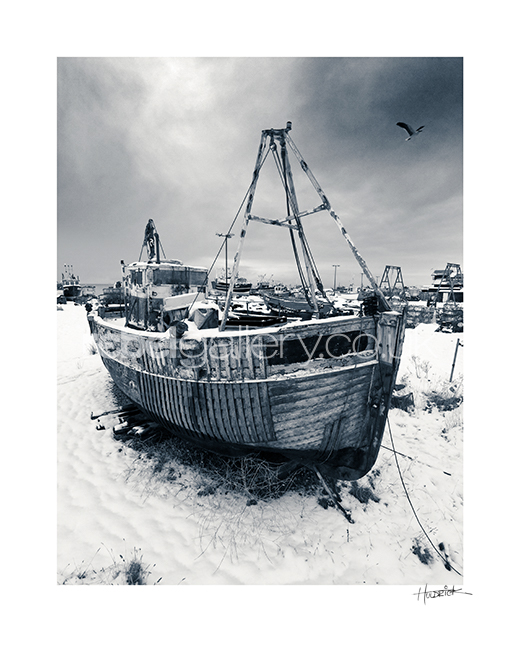 "Photograph of Hastings trawler ""Flying Fish"" by Hastings Photographer Jon Huldrick Wilhelm."