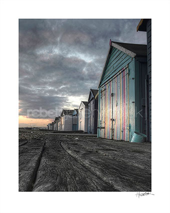 Photograph of Beach Huts in St. Leonards-on-Sea by Hastings photographer Jon Wilhelm
