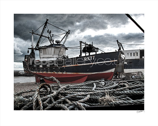 Photo of Hastings Trawler RX77 Four Brothers on Hastings Stade by Hastings photographer Jon Wilhelm