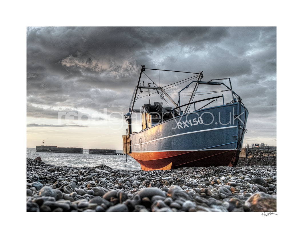 Photo of Hastings Trawler RX150 Roy's Boys at Sunrise on Hastings Stade by Hastings Photographer Jon Wilhelm