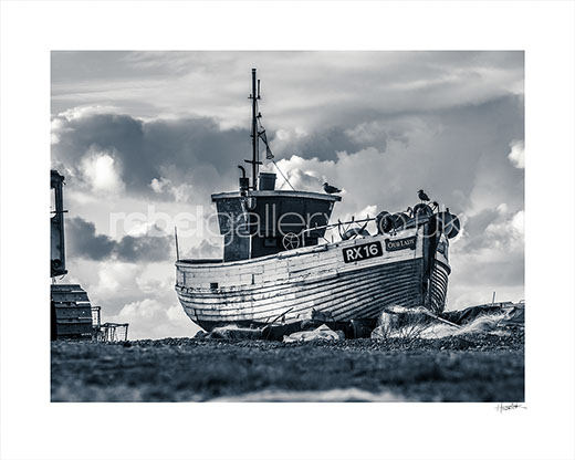 Photograph of Hastings Trawler RX16 Our Lady on The Stade early morning by Hastings Photographer Jon Huldrick Wilhelm.