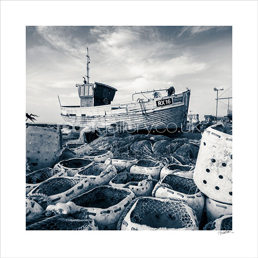 Photograph of Hastings Trawler RX16 Our Lady by Hastings Photographer Jon Huldrick Wilhelm.